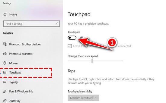 Tắt touchpad HP, tắt chuột cảm ứng Laptop HP 4