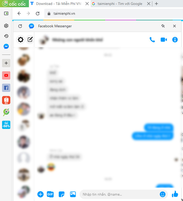 how to chat facebook messenger on coc's quick access bar 4