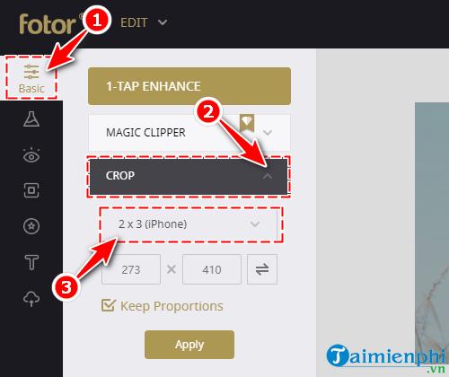 Tạo hình nền, Avatar cho điện thoại di động sử dụng Fotor