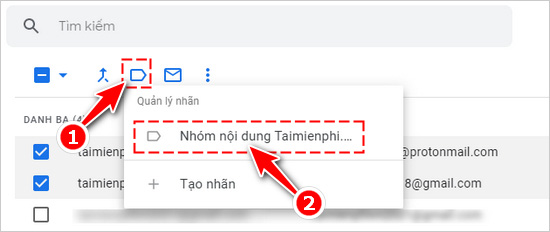 Tạo nhóm trong gmail, tạo group email trong gmail