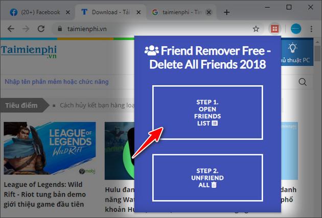 Cách hủy kết bạn hàng loạt với Friend Remover Pro trên Facebook