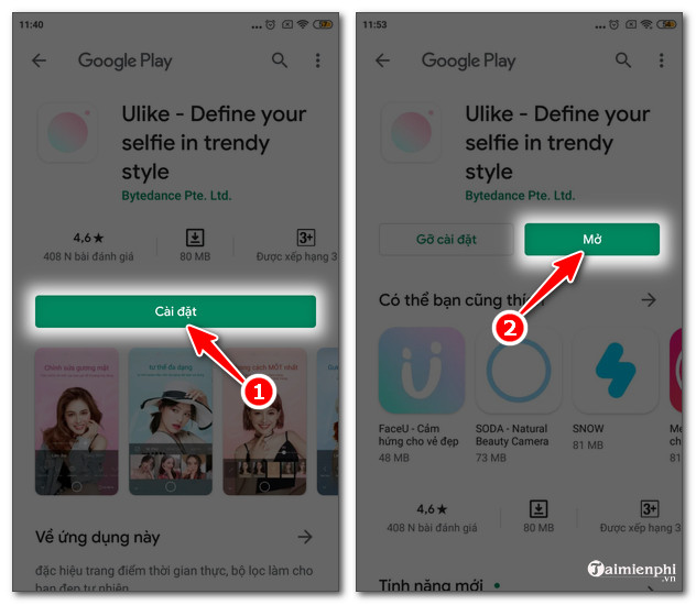 Cách tải và cài đặt Ulike trên điện thoại