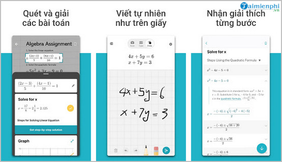 Top 5 ứng dụng giải bài tập qua ảnh chụp điện thoại
