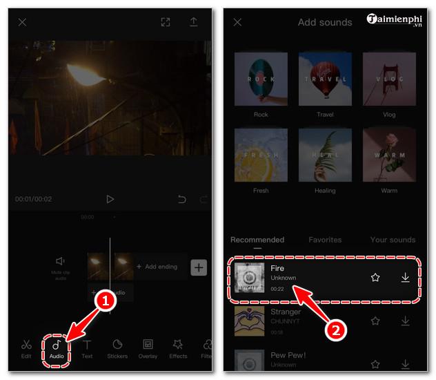 cach lam video bang app Capcut
