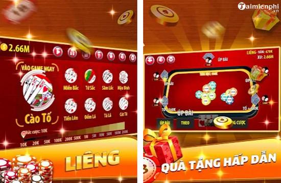 top game danh bai lieng online offline hay nhat 6