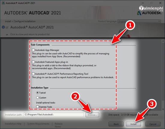 Hướng dẫn tải và cài AutoCAD 2021