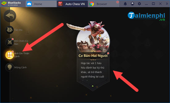 che do nguoi anh em thien lanh trong auto chess mobile co gi hay 3