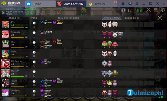 che do nguoi anh em thien lanh trong auto chess mobile co gi hay 9