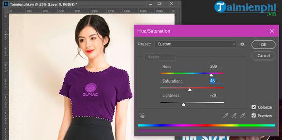 Cách đổi màu áo, quần bằng Photoshop