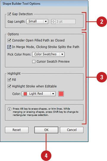 Công cụ Shape builder tool trong Illustrator