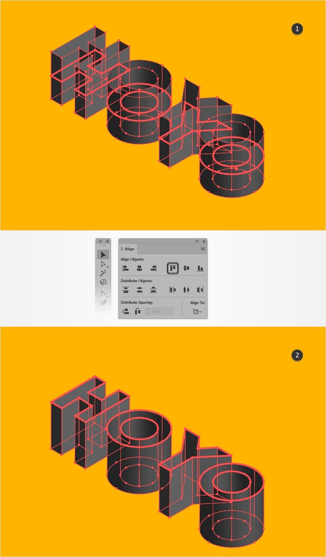Hướng dẫn tạo chữ 3D tuyệt đẹp bằng Illustrator