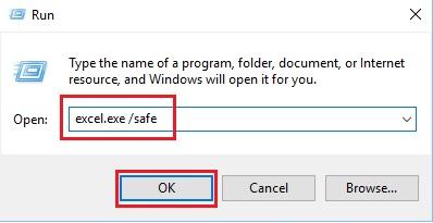 Sửa lỗi Excel bị treo, không phản hồi trên Windows 10 3