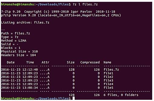 Cài đặt và sử dụng 7 ZIP trên Ubuntu Linux