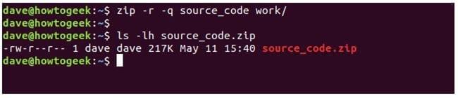 nen va giai nen file zip tren terminal linux 11