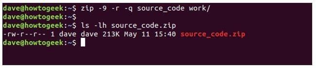 nen va giai nen file zip tren terminal linux 12