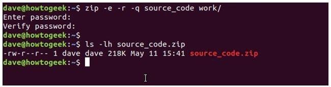 nen va giai nen file zip tren terminal linux 13