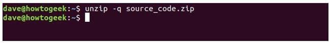 nen va giai nen file zip tren terminal linux 16