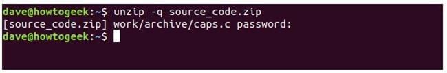 nen va giai nen file zip tren terminal linux 18
