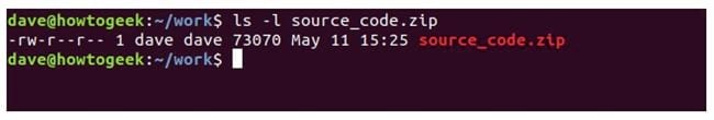 nen va giai nen file zip tren terminal linux 6