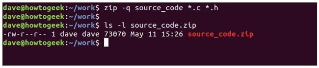 nen va giai nen file zip tren terminal linux 7