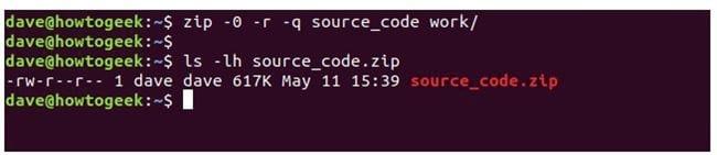 nen va giai nen file zip tren terminal linux 10