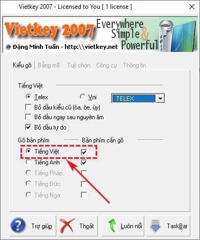 Error correction can not be used Vietnamese language when using vietkey 4