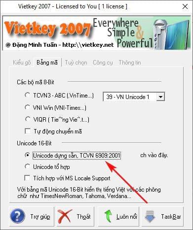 Error correction can not be used Vietnamese language when using vietkey 5