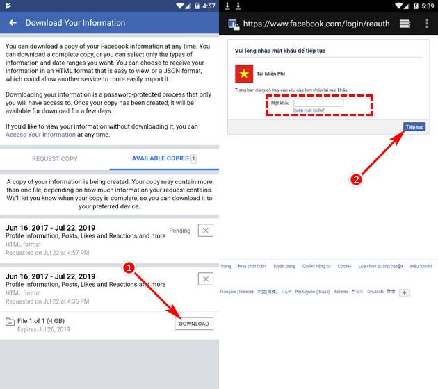 Cách khôi phục ảnh đã xóa trên Facebook bằng điện thoại 5