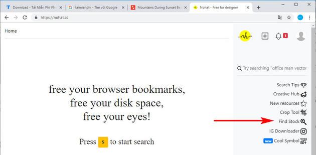 Cách tải ảnh trên Shutterstock miễn phí bằng công cụ Nohat.cc