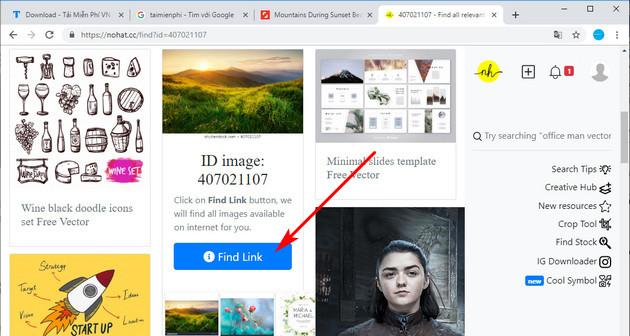 Cách tải ảnh trên Shutterstock miễn phí bằng công cụ Nohat.cc 4