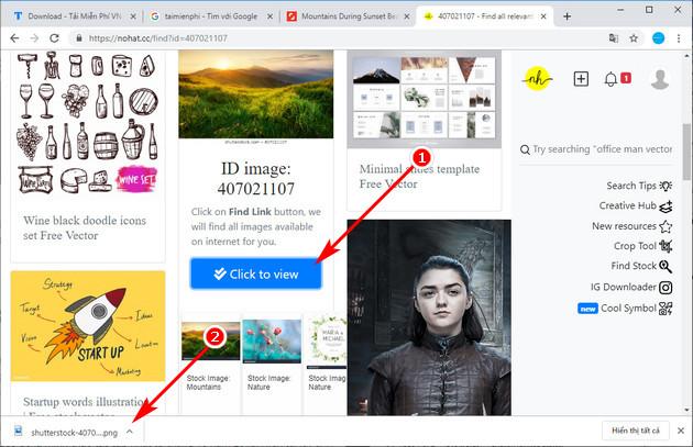 Cách tải ảnh trên Shutterstock miễn phí bằng công cụ Nohat.cc 5