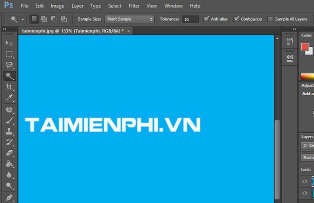 Cách xóa chữ trên ảnh Photoshop CS6