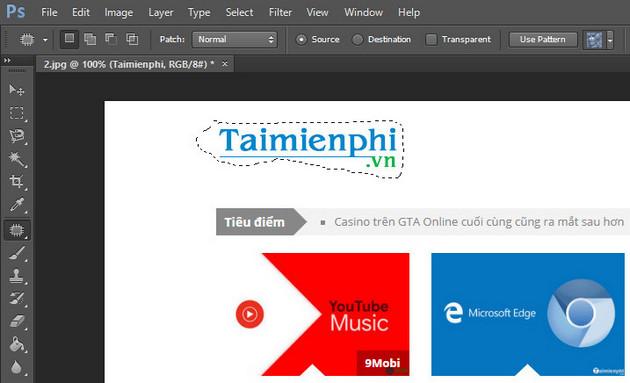 Xóa logo trong Photoshop CS6