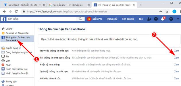Khôi phục cuộc trò chuyện đã xóa trên Facebook 2