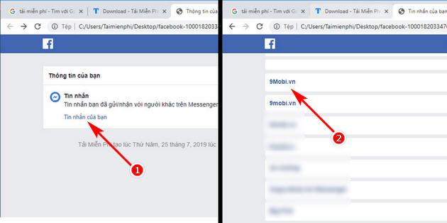 Khôi phục cuộc trò chuyện đã xóa trên Facebook 7