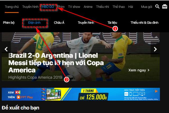 Hướng dẫn xem HBO GO miễn phí trên FPT Play, coi phim bom tấn
