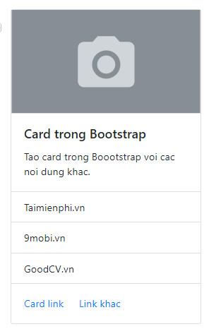 Card trong Bootstrap, khái niệm và cách sử dụng