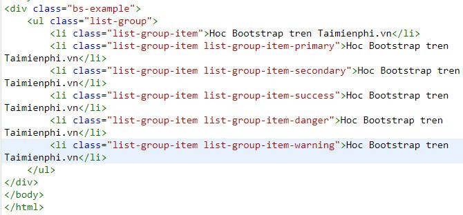 List Group trong Bootstrap, tác dụng và cách tạo