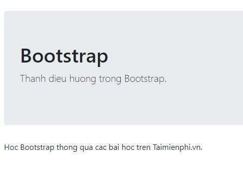 Tạo thanh điều hướng trong Bootstrap