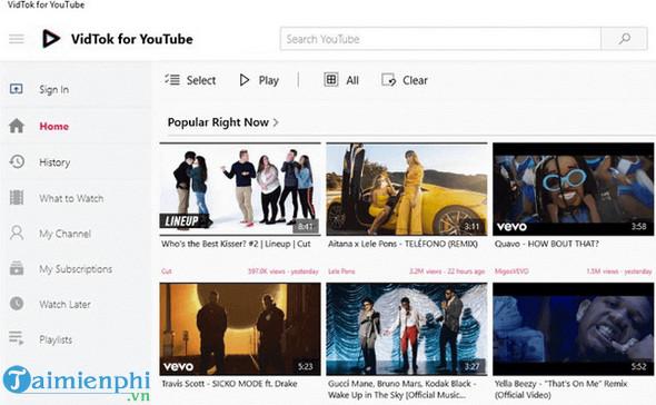 Top ứng dụng YouTube dành cho Windows 10 7