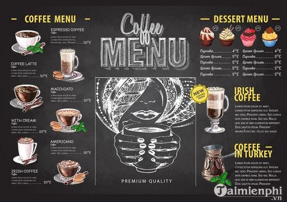 Mẫu menu cafe đẹp 12