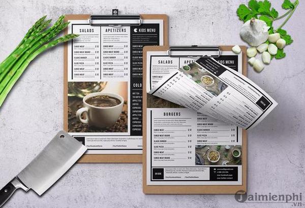 Mẫu menu thực đơn nhà hàng đẹp 12