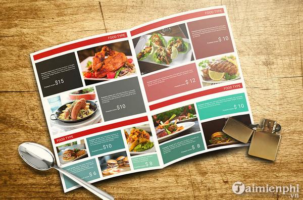 Mẫu menu thực đơn nhà hàng đẹp 5