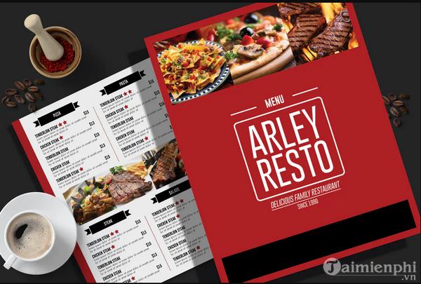Mẫu menu thực đơn nhà hàng đẹp 3