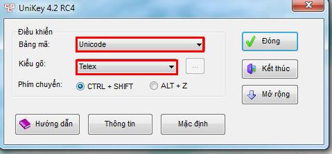 Repair unikey does not speak Vietnamese 7