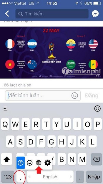 cach cai ban phim tieng han cho dien thoai iphone