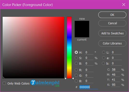Cách lấy màu trong Photoshop, copy màu, lưu màu 3