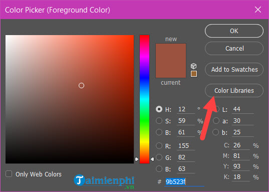 Cách lấy màu trong Photoshop, copy màu, lưu màu 8