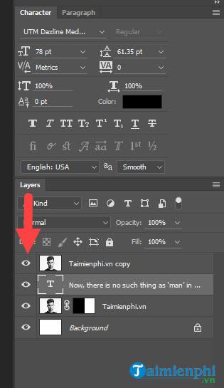 Cách biến ảnh thành chữ trong Photoshop
