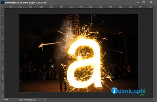 Cách chèn chữ cháy đẹp bằng Photoshop